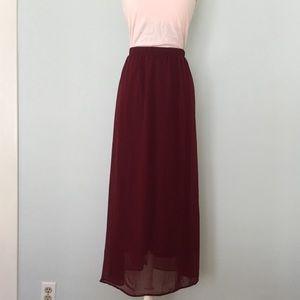 Forever 21 Dresses & Skirts - Just In🎀Burgundy Maxi Skirt