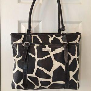 Nine & Co.  Handbags - 🛍 Nine & Co. Brown Cream Cow Print Tote Bag