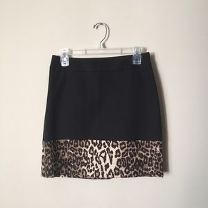 Banana Republic Dresses & Skirts - Banana Republic leopard hem skirt