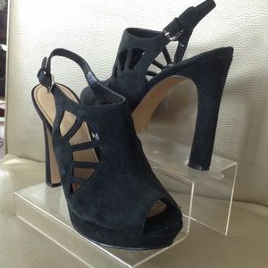 Marc Fisher Shoes - Marc Fisher Black Suede Heels Size 8.5