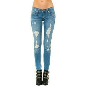 Levi's Denim - Levis Too Superlow distressed jeans