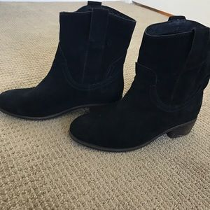 Black suede Jeffrey Campbell boots