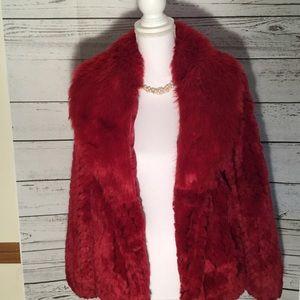 Alpine Studio Jackets & Blazers - Sizzling red faux fur coat by Alpine Studio