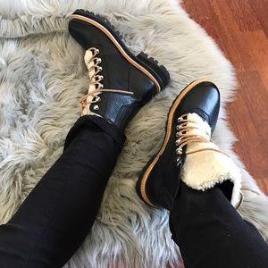 Sigerson Morrison Shoes - Sigerson Morrison Isa Black Hiker Boot