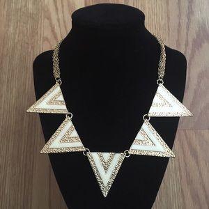 Amrita Singh Jewelry - Amrita Singh Ivory & Gold Noho Bib Becklace