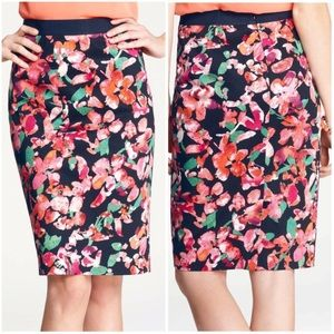 NWT Ann Taylor Wild Blooms floral skirt size 10