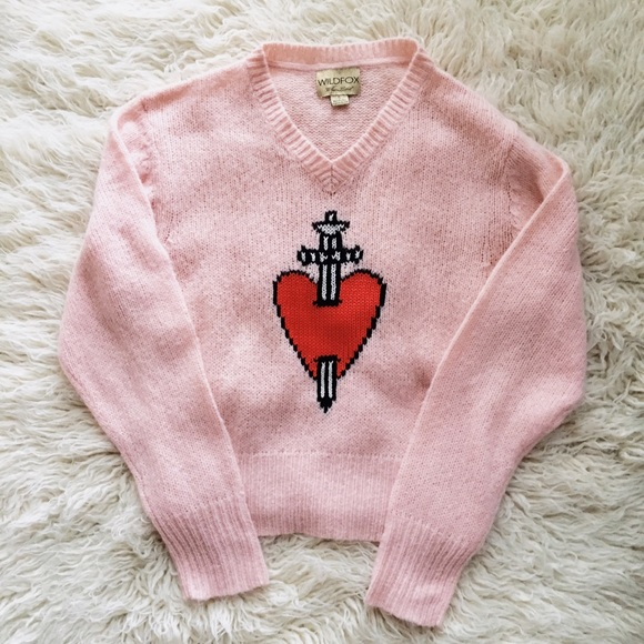Wildfox Sweaters King Of Hearts Sweater Poshmark