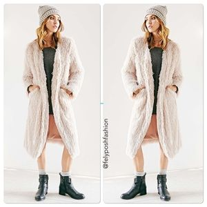 Urban Outfitters Ecote Furry Duster Coat