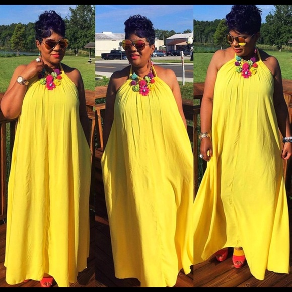 Stunning Yellow Maxi 👗 Dress Plus Size 3X