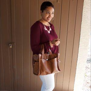 Handbags - 🌟Brown Satchel!🌟
