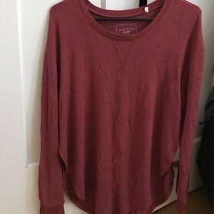 Nollie Tops - PACSUN Maroon long sleeve shirt