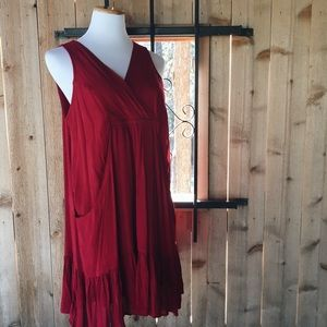 Entro red mini tunic dress