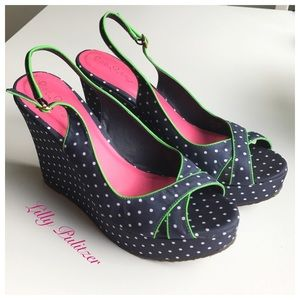🎈Final price- Lilly Pulitzer Polkadot Wedges