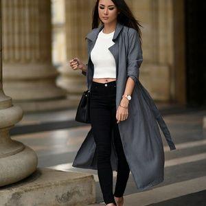 7 Diamonds Jackets & Blazers - Gray Trench Jacket