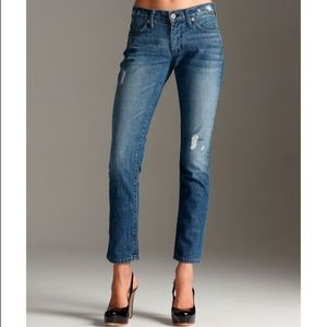 "James Jeans Denim - James Jeans distressed ""Ritchie"" skinny jeans 29"
