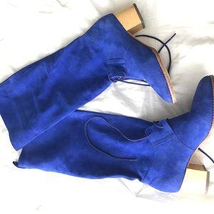 Pour la Victoire Shoes - Pour La Victoire Blue Suede Boots