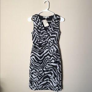 Boston Proper Dresses & Skirts - Boston Proper zebra pleated sheath dress