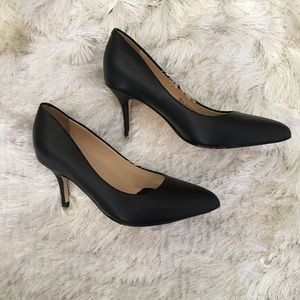 Ukies Shoes - Ukies Arianna Black Leather Comfort Pumps Heels 6
