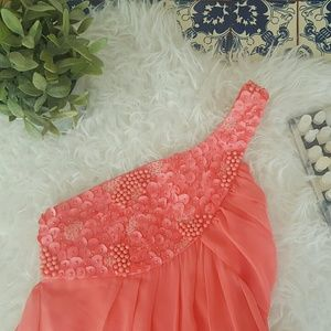 Black Dresses & Skirts - 🌷BLACK coral pink dress with beaded top🌷