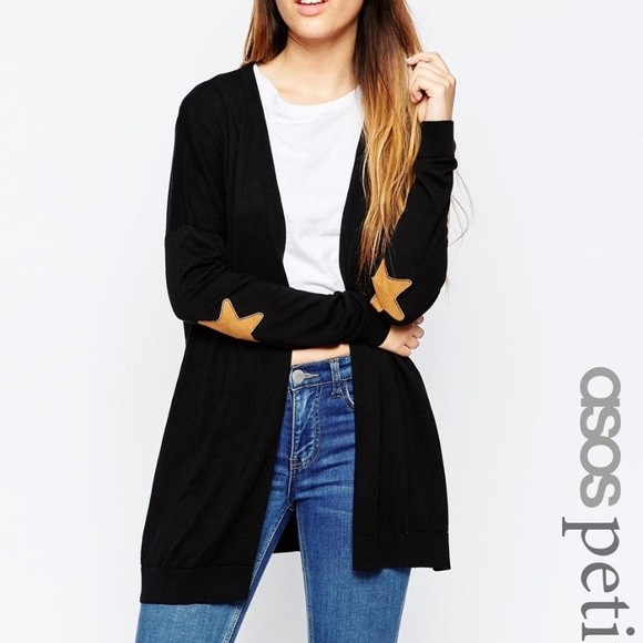 893508e4b1 ASOS Sweaters - Cardigan with Suede Star Elbow Patches