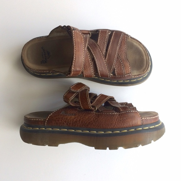 dr martens dr martens air wair leather sandals from. Black Bedroom Furniture Sets. Home Design Ideas