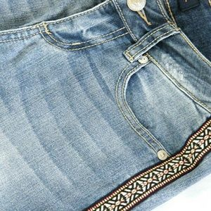 Seven7 Denim - Sz 2 New Jean Boho Stripe Capris
