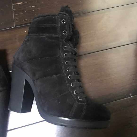 0572e2fa0 Prada Shoes | Scamosciato Winter Nero Boots | Poshmark