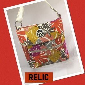 Relic Handbags - RELIC White & Tropical Print Crossbody