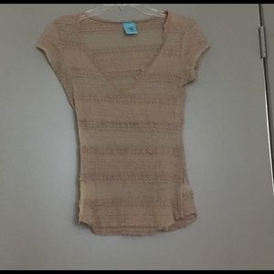 Light Brown Lace Tee
