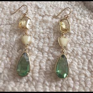 Stella & Dot Jewelry - Stella and Dot crystal drop earrings.