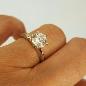 1.5ct 14k white gold Engagement ring 4 5 6 7 8 9