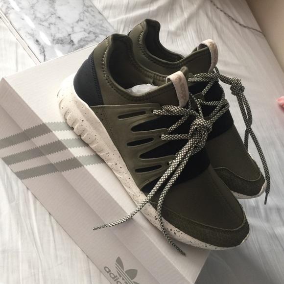 new style bfcef 32d9a Adidas MI tubular radial shoes (women's) NWT