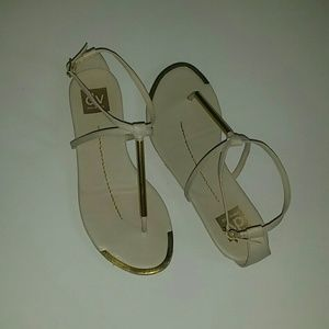 Gold detailed sandals