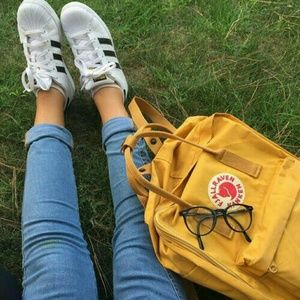 Fjallraven Handbags - Yellow Fjallraven Kanken medium