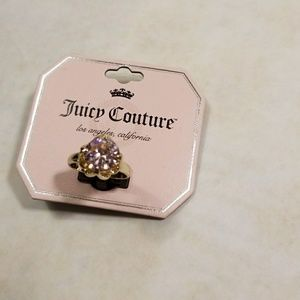 Juicy Couture Faux Pink Crystal Ring