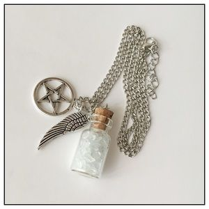 Healing Stones And Crystals Jewelry - Sea Salt Purification And Protection Charm Bottle