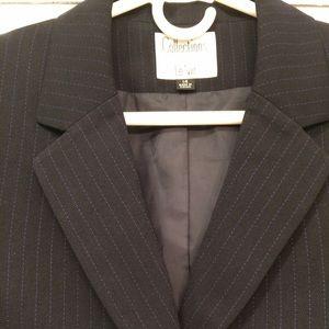 Le Suit Jackets & Blazers - Women's black pinstripe blazer