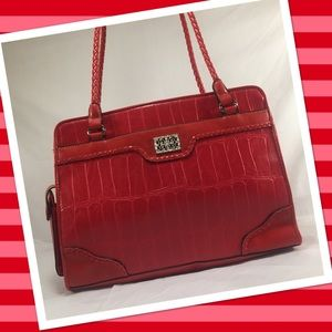 Bueno Handbags - BUENO Red Croc Embossed Bag