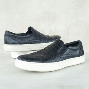 Vince Other - VINCE croc embossed leather sneakers