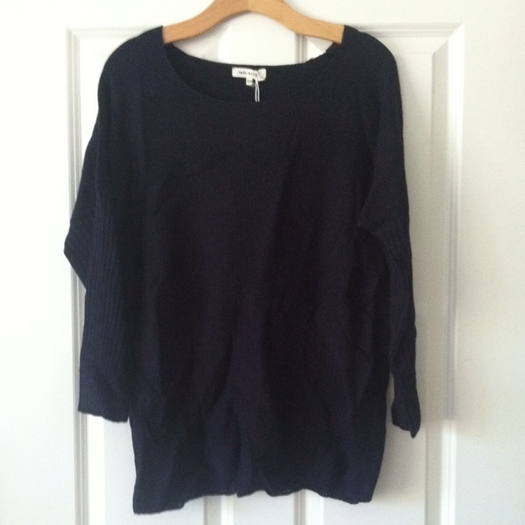 Miracle Sweaters - Navy Blue knit sweater