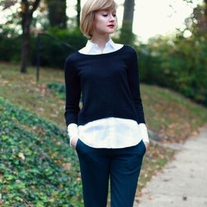 Divided Sweaters - H&M Black Knit Crop Sweater