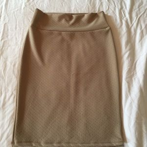 Lularoe Cassie Skirt Khaki Tan Color Medium NWOT