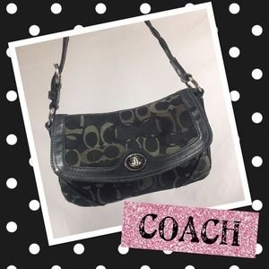 Coach Handbags - COACH Chelsea Signature Optic Leather Trim Bag