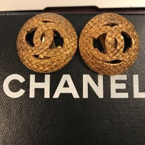 Chanel vintage clip earrings - authentic