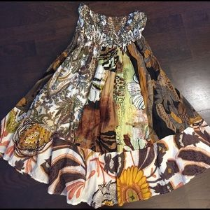 Planet Gold Dresses & Skirts - Strapless mosaic dress, 100% cotton