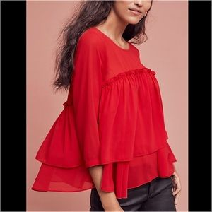 Anthropologie Tops - Anthropologie Ruffle Blouse