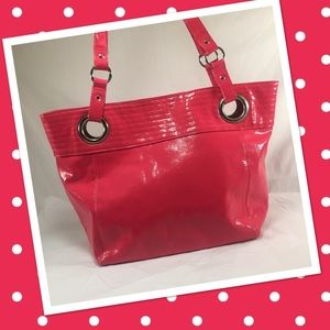 Handbags - Gorgeous Hot Pink Patent Styled Large Tote