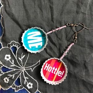 Hot Topic Jewelry - Hottie! Me! Handmade Bottlecap Earrings