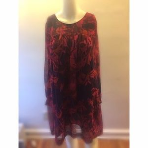 PRICE FIRM H&M Red & Pink Floral Dress