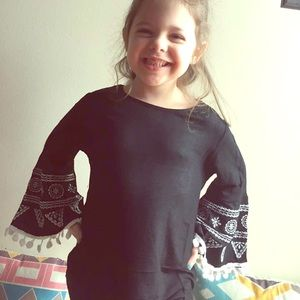 Other - Black Pom Pom blouse